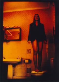 black jacket bathroom
